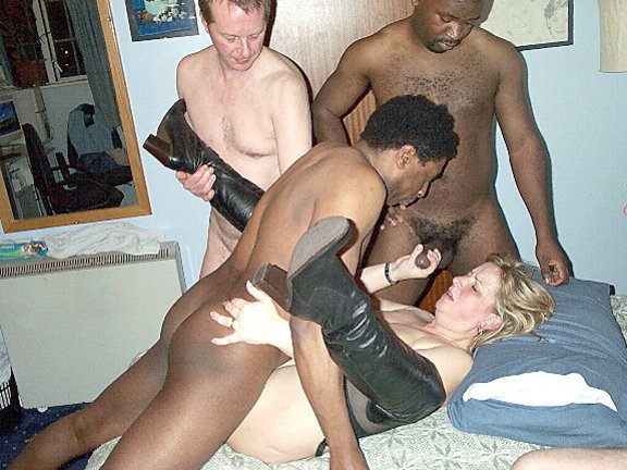 Interacial orgy for men and women