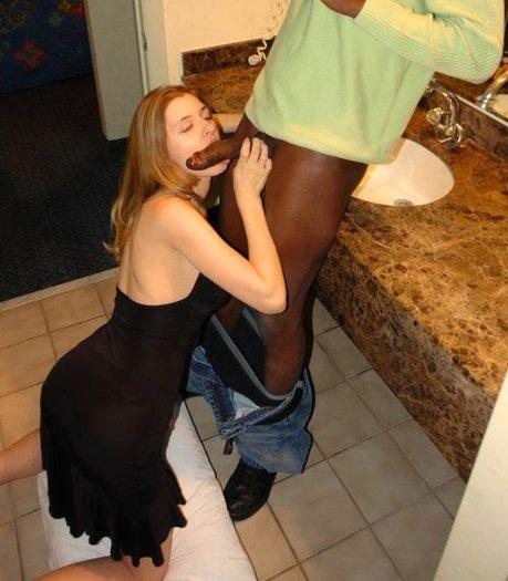 Interracial in toilet porn
