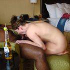 Boyfriend Watches as His Girlfriend Swallows Black Dick