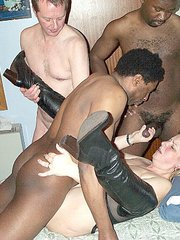 Mature interracial orgy
