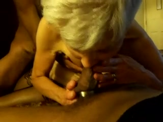 Mature blonde slut gangfucked