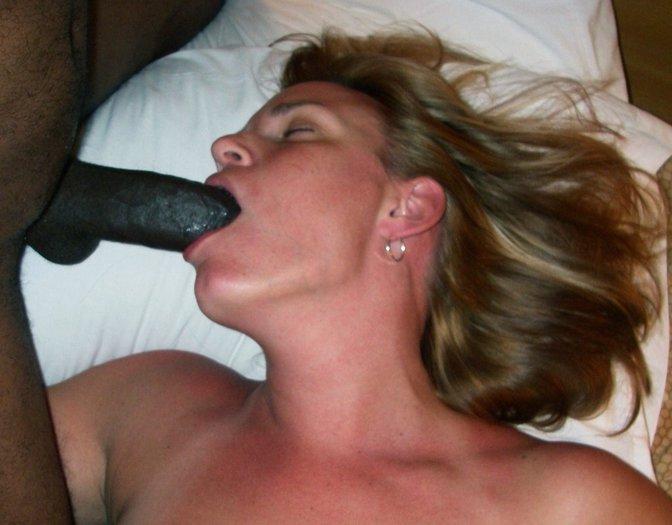 amateur wife swallows black cum